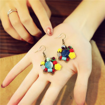 Earrings Mixed materials 30-39.99 yuan Other / other Color life tree red brand new female goods in stock