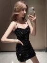 Pajamas / housewear set male Ezrin S,M,L black wool Sleeveless Solid color Socket Short skirt
