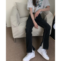 Jeans Summer 2021 black S,M,L trousers High waist Knickerbockers 18-24 years old washing 30% and below
