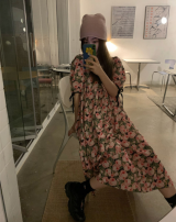 Dress Summer 2021 Short, long Average size longuette singleton  Short sleeve commute High waist Decor 18-24 years old Korean version 30% and below other