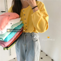 Wool knitwear Spring 2021 Average size Long sleeves singleton  Cardigan other 51% (inclusive) - 70% (inclusive) Regular commute easy routine Solid color Single breasted Korean version 18-24 years old Other / other