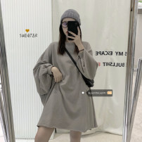 Sweater / sweater Spring 2021 Black, charcoal green, cream grey Average size Long sleeves Medium length Socket singleton  Crew neck easy commute routine Solid color 18-24 years old 30% and below Other / other Korean version