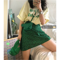 Fashion suit Summer 2021 Average size Yellow T-shirt, green skirt s, green skirt M 18-25 years old 30% and below