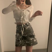 Fashion suit Summer 2021 Top two piece set 476, A-line skirt s 477, A-line Skirt M 477 Separate shots 18-25 years old 30% and below