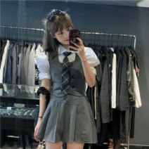 Fashion suit Spring 2021 Separate shots Tie, vest s, vest m, vest L, skirt s, Skirt M, skirt L, shirt 18-25 years old Other / other