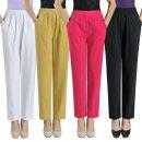 Casual pants White, off white, black, green, rose, orange, yellow, khaki XL (waist 2.0-2.2 feet), 2XL (waist 2.3-2.4 feet), 3XL (waist 2.5-2.7 feet), 4XL (waist 2.8-3.0 feet) Ninth pants Straight pants High waist Versatile routine Other / other cotton cotton