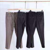 Casual pants Others Fashion City Black, dark grey, coffee 28,29,30,31,32,33,34,36 trousers go to work Straight cylinder Micro bomb winter youth 2019 Straight cylinder