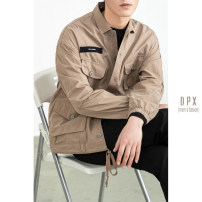 Jacket Other / other Fashion City Dark Khaki, orange M,L,XL,2XL routine standard Other leisure autumn Long sleeves Wear out stand collar tide youth routine Single breasted 2021 Cloth hem No iron treatment Closing sleeve Solid color More than two bags) cotton