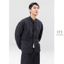 Down Jackets black Others White duck down M,L,XL,2XL Fashion City go to work routine routine Wear out Hoodless stand collar youth Exquisite Korean style The appearance is loose and the inside is closed Solid color 2020 Coated fabric