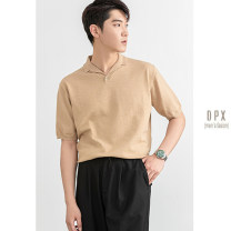 Polo shirt Other / other Fashion City routine Khaki, black, white M,L,XL,2XL,3XL standard go to work summer Short sleeve Exquisite Korean style routine youth 2020 Solid color cotton Multiple pockets