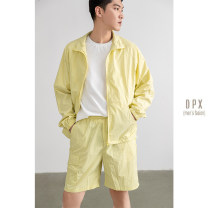 Leisure sports suit spring M,L,XL,2XL Black, gray, yellow Long sleeves Other / other youth 2021