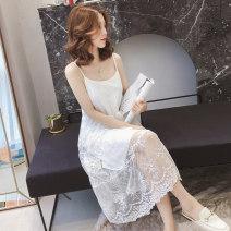 Dress Winter of 2018 White, black Average size