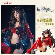 Cosplay women's wear Spot Set 6 years old and above LMS Tohsaka Rin racing suit Youwo Wo Japan FATE Series Tohsaka Rin racing suit Looking far