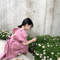 Dress Yangqi Zilu back skirt (in stock), Yangqi Zilu back skirt (pre-sale about 4.24), Yangqi Zilu back skirt (pre-sale about 4.29) female SENBABY 90, 100, 110 (model), 120, 130, 140, 150 Other 100% summer Korean version other other other s726