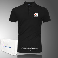 Polo shirt Said the champion Fashion City routine M,L,XL,2XL,3XL,4XL,5XL Self cultivation Other leisure summer Short sleeve GJS0197 Simplicity in Europe and America routine youth Cotton 95% polyurethane elastic fiber (spandex) 5% 2020 Alphanumeric cotton No iron treatment Button decoration
