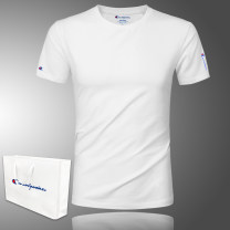 T-shirt Fashion City routine M,L,XL,2XL,3XL,4XL,5XL Said the champion Short sleeve Crew neck Self cultivation daily summer GJS0203 Modal fiber (modal) 49.6% cotton 44.1% polyurethane elastic fiber (spandex) 6.3% youth routine Simplicity in Europe and America Cotton wool 2020 Alphanumeric Embroidery