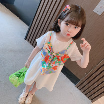 Dress female Other / other Cotton 80% polyester 20% summer Korean version Short sleeve Broken flowers cotton other Class A 12 months, 6 months, 9 months, 18 months, 2 years old, 3 years old, 4 years old, 5 years old, 6 years old, 7 years old Chinese Mainland Zhejiang Province Huzhou City