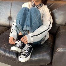 Women's large Spring 2020 Blue, gray, off white, light blue Jeans singleton  commute easy moderate Solid color Korean version Denim Three dimensional cutting Lin-3003 18-24 years old trousers 101g / m ^ 2 (including) - 120g / m ^ 2 (including) Contains (9 oz) - 11 oz