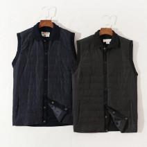 Vest / vest other Others M,L,XL,2XL Black, Navy Other leisure standard Cotton vest Single breasted Washed cotton