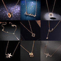 Necklace Titanium steel RMB 25-29.99 Other / other brand new Japan and South Korea female goods in stock yes Fresh out of the oven 21cm (inclusive) - 50cm (inclusive) no Below 10 cm Not inlaid Titanium steel other Water wave chain