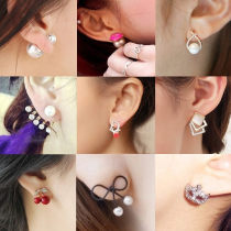 Ear Studs Alloy / silver / gold RMB 1.00-9.99 Other / other brand new Japan and South Korea female goods in stock Fresh out of the oven Alloy inlaid artificial gem / semi gem other