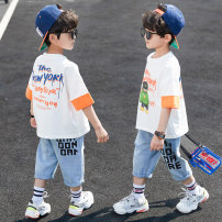 suit Prince McGrady 110cm 120cm 130cm 140cm 150cm 160cm male summer leisure time Short sleeve + pants 2 pieces Thin money There are models in the real shooting Socket No detachable cap Cartoon animation cotton children Expression of love Class B Other 100% Summer 2020 Chinese Mainland Huzhou City