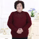 Middle aged and old women's wear Fall 2017 fashion sweater easy singleton  Solid color 50-59 years old Socket Crew neck routine Fat and beautiful wool 51% (inclusive) - 70% (inclusive) Pure e-commerce (online only)