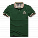 Polo shirt Gulin maple Business gentleman routine Black, green easy Other leisure summer Short sleeve Business Casual routine Large size Cotton 90% new polyester 10% 2017 Solid color cotton No iron treatment badge More than 95%