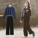 suit Other / other Royal blue autumn, royal blue winter, light blue winter female spring Long sleeve + pants 2 pieces There are models in the real shooting Solid color other Expression of love Class B