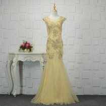 Dress / evening wear Weddings, adulthood parties, company annual meetings, daily appointments XXL M L XL Champagne Netting