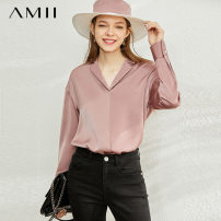 shirt Autumn 2020 polyester fiber 96% and above Long sleeves other Regular other Single row multi button other 25-29 years old Amii Polyester 100% Same model in shopping mall (sold online and offline)