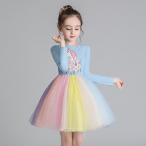 Dress Blue long sleeve, pink long sleeve, blue short sleeve, pink short sleeve, blue long sleeve plush, Pink Long Sleeve plush female Doveark 100cm,110cm,120cm,130cm,140cm,150cm,160cm Cotton 76% polyester 24% spring and autumn princess Long sleeves Cartoon animation cotton Irregular Class B