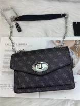 Bag The single shoulder bag PVC Small square bag Other / other Black, pink, coffee brand new European and American fashion in leisure time soft no written words Single root One shoulder cross Yes youth Horizontal square polyester fiber inside pocket with a zipper