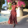 Dress Summer 2020 Picture color S,M,L,XL,2XL longuette singleton  Short sleeve commute V-neck High waist Decor Socket Ruffle Skirt routine Others 81% (inclusive) - 90% (inclusive) Chiffon