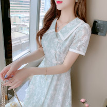 Dress Summer 2021 Stone green S M L XL Mid length dress 25-29 years old YKACP / Lovely clothes 21-1024 More than 95% other Other 100%