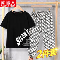 suit 2 pieces Condom NJRXP00203814 Summer 2021 4 years old, 5 years old, 6 years old, 7 years old, 8 years old, 9 years old, 10 years old, 11 years old, 12 years old, 13 years old, 14 years old NGGGN summer male cotton Thin There are models in the real shooting Cartoon animation Short sleeve + pants