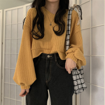 Wool knitwear Autumn 2020 Average size Khaki, ginger, apricot, dark grey, black, brilliant red Long sleeves singleton  acrylic fibres 81% (inclusive) - 90% (inclusive) have cash less than that is registered in the accounts commute V-neck Solid color Korean version 18-24 years old Other / other