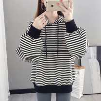 Nursing clothes Black and white stripes, red and white stripes M,L,XL,2XL Other / other Socket spring and autumn Long sleeves have cash less than that is registered in the accounts Korean version Sweater stripe Lift up cotton CFL1907