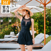 one piece  361° M [recommended height 155-160cm, weight 40-49kg] l [recommended height 157-167cm, weight 50-55kg] XL [recommended height 160-170cm, weight 56-61kg] XXL [recommended height 167-177cm, weight 62-67kg] Black Pink Skirt one piece With chest pad without steel support SLY201109 Spring 2020