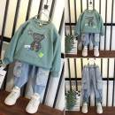 suit Other / other Lemon yellow, sky blue, bean green 90cm,100cm,110cm,120cm,130cm,140cm male spring and autumn leisure time Long sleeve + pants 2 pieces routine No model Socket nothing other cotton children Expression of love Class B Other 100% Chinese Mainland