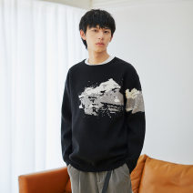 T-shirt / sweater Others Fashion City black S. M, l, XL, XXL routine Socket Crew neck Long sleeves MS037040 autumn Straight cylinder 2020 leisure time tide youth other jacquard weave