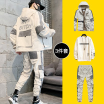 Jacket Other / other Youth fashion M,L,XL,2XL,3XL,4XL,5XL Extra wide Other leisure spring DSW-028-TZ3335 AOE Long sleeves Wear out Hood tide teenagers routine Zipper placket No iron treatment