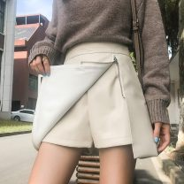 skirt Spring 2021 S,M,L,XL,2XL Off white, black, khaki Short skirt commute High waist A-line skirt Solid color Type A 18-24 years old JZ771 51% (inclusive) - 70% (inclusive) other Korean version