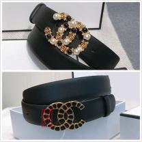 Belt / belt / chain top layer leather female belt Diamond inlay Glossy surface 95cm,100cm,105cm,110cm,115cm,120cm,125cm
