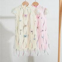 Dress Pink Beige female An baowa 110cm 120cm 130cm 140cm 150cm 160cm Other 100% summer Korean version Skirt / vest Dot other A-line skirt abw2571 Class B Summer 2021 3 years old, 4 years old, 5 years old, 6 years old, 7 years old, 8 years old, 9 years old, 10 years old, 11 years old, 12 years old