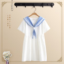 Dress Summer of 2019 S,M,L Middle-skirt singleton  Short sleeve Sweet other other Others Under 17 Other / other HS19050812 More than 95% cotton college
