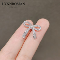 Brooch Synthetic cubic zirconia / water drill 51-100 yuan LYNNROMAN Ly618 bow zirconia Brooch Silver brand new goods in stock Japan and South Korea female Fresh out of the oven Alloy inlaid artificial gem / semi gem other LY618 Autumn 2020 no Exclusive payment of tmall