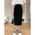 skirt Spring 2021 S M L Black - spot black - 15 working days in advance Mid length dress Natural waist 18-24 years old QFC912043-565417 More than 95% Mrs. Qian other Other 100%