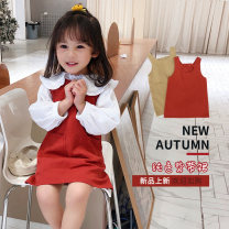 Dress Khaki, brick red female Other / other 130cm,100cm,90cm,120cm,110cm,80cm Other 100% spring and autumn lady Strapless skirt other cotton other RQ2001 Class B 12 months, 3 years old, 4 years old, 5 years old, 6 years old, 7 years old Chinese Mainland Zhejiang Province Huzhou City