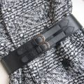 Belt / belt / chain top layer leather female Waistband grace Single loop Youth, middle age Pin buckle Double button soft surface 5.8cm alloy alone Foo&Yoo